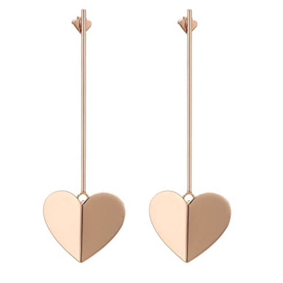 KATE SPADE • Rose Gold Heritage Heart Earrings
